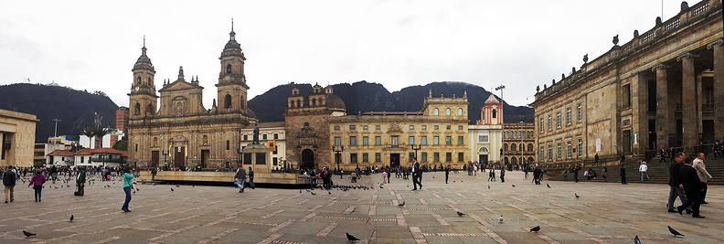 Plaza Bolivar Cathedral Palace of Justice and Parliament M.jpg