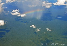 Rainshower w rainbow over Amazon