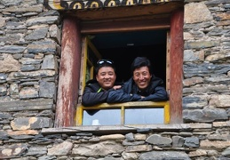 Our guide Dorje (left) and Chögyal, one of our 4 drivers
