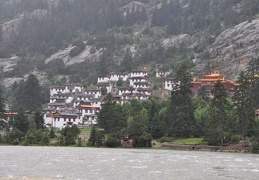 Pombu or Dekyi Gompa, a Kagyupa monastery founded in 1169 by the First Karmapa Dusum Chenpa
