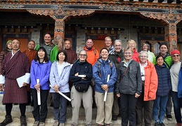 Mushroamers with members of the National Mushroom Center of Bhutan in Ura