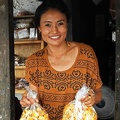 Chanterelle selling lady in Lobesa
