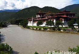Punakha Dzong Mo Chu River Bridge DW Ms