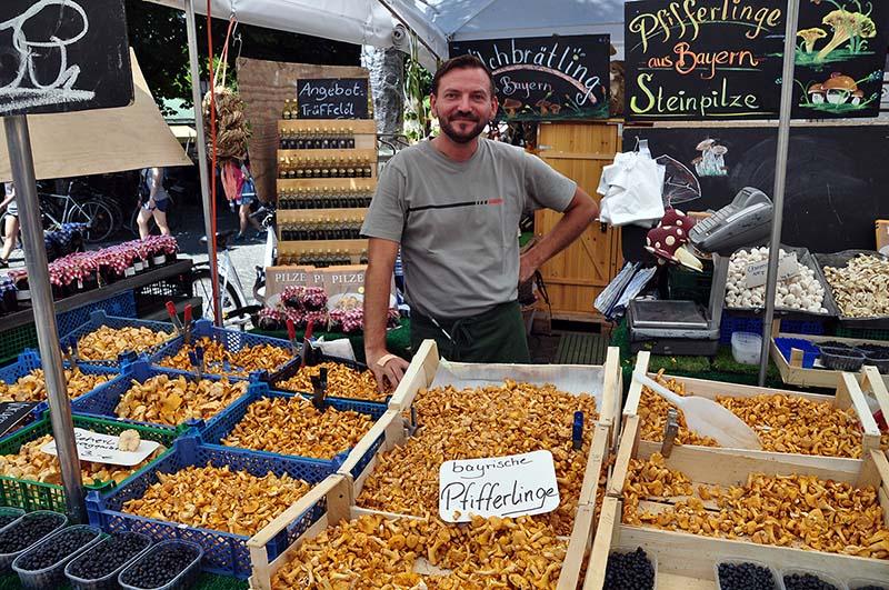 Cantharellus viktualienmarkt Munich